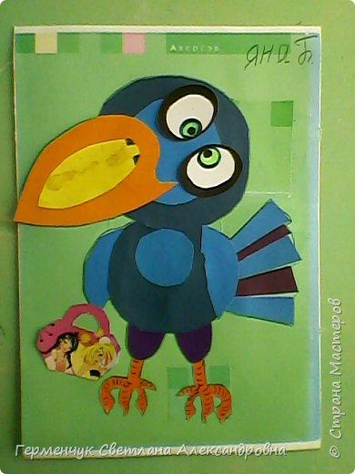 """Работы ребят 4""""В"""" класса на тему """"Зимующие птицы"""".Птицы получились симпатичные и веселые. фото 18"""