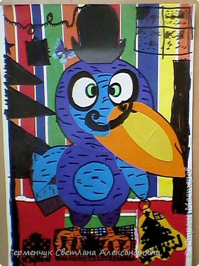 """Работы ребят 4""""В"""" класса на тему """"Зимующие птицы"""".Птицы получились симпатичные и веселые. фото 23"""