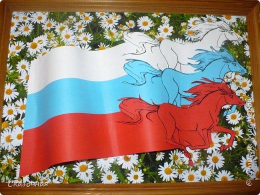 """На конкурс """"Государственные символы России"""" делали с детьми поделки. Спасибо Диме Тарасюк за идею. Мы с Дианой Баклашовой заняли 3 место. фото 1"""