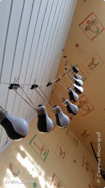 Елочные игрушки из лампочек фото 3