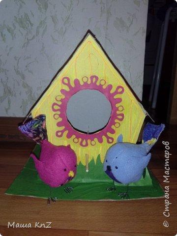 Дали задание ребенку в детском саду придумать поделку, посвященную весне, наступлению тепла. Вдохновившись работами наших мастериц, решили создать всей семьей вот такую работу. фото 4