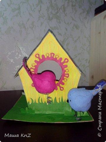 Дали задание ребенку в детском саду придумать поделку, посвященную весне, наступлению тепла. Вдохновившись работами наших мастериц, решили создать всей семьей вот такую работу. фото 5
