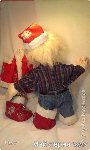 """...""""лёгким движением руки...."""" Дед мороз ...превращается..... Одежда съёмная. Высота :70 см  фото 7"""