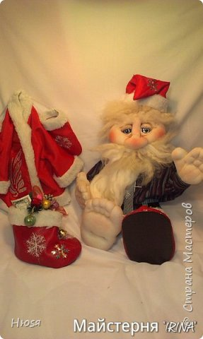 """...""""лёгким движением руки...."""" Дед мороз ...превращается..... Одежда съёмная. Высота :70 см  фото 8"""