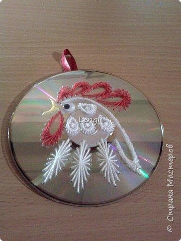 Петушок на диске к Новому году фото 2