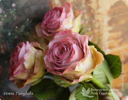Приветствую всех на моей страничке! Сегодня я к вам с такими розами сотра Эсперанс. Давно хотела слепить такие,а тут как раз их и заказали) Сразу прошу прощение,что не успеваю ответить на все те добрые слова,что вы пишите о моих работах. Я всем очень благодарна,но времени катастрофически не хватает ответить каждому) То же касаемо вопросов) Если вас не затруднит,то лучше дублируйте вопросы в контакте. Там я быстрее и увижу,и отвечу). Там же я выкладываю анонсы предстоящих мастер- классов. фото 15