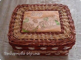 Коробочка плетеная фото 1