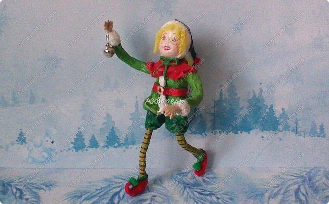 Очень меня впечатлили игрушки из ваты которые делает Олечка Симакова. А это мои пробы, эльфа-девочку я беленькую показывала, теперь она раскрашенная. фото 2