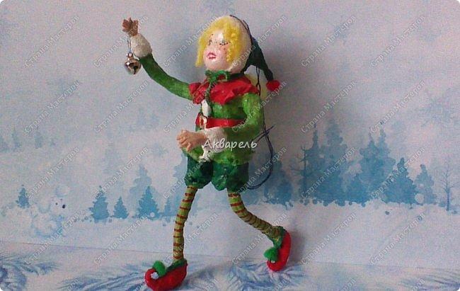 Очень меня впечатлили игрушки из ваты которые делает Олечка Симакова. А это мои пробы, эльфа-девочку я беленькую показывала, теперь она раскрашенная. фото 3