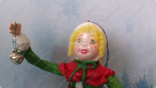 Очень меня впечатлили игрушки из ваты которые делает Олечка Симакова. А это мои пробы, эльфа-девочку я беленькую показывала, теперь она раскрашенная. фото 5