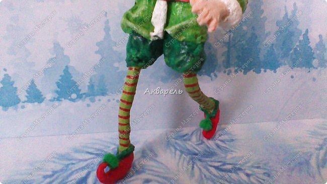 Очень меня впечатлили игрушки из ваты которые делает Олечка Симакова. А это мои пробы, эльфа-девочку я беленькую показывала, теперь она раскрашенная. фото 6