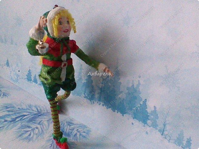 Очень меня впечатлили игрушки из ваты которые делает Олечка Симакова. А это мои пробы, эльфа-девочку я беленькую показывала, теперь она раскрашенная. фото 8