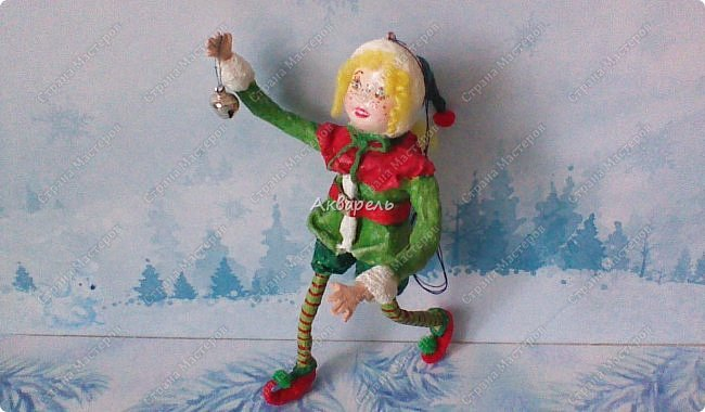 Очень меня впечатлили игрушки из ваты которые делает Олечка Симакова. А это мои пробы, эльфа-девочку я беленькую показывала, теперь она раскрашенная. фото 9