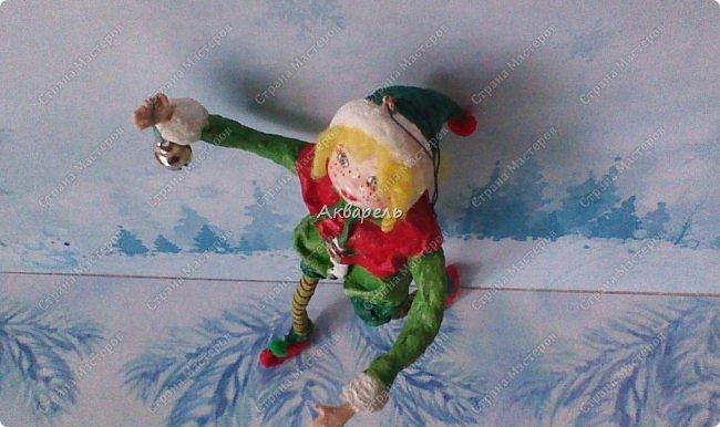 Очень меня впечатлили игрушки из ваты которые делает Олечка Симакова. А это мои пробы, эльфа-девочку я беленькую показывала, теперь она раскрашенная. фото 10