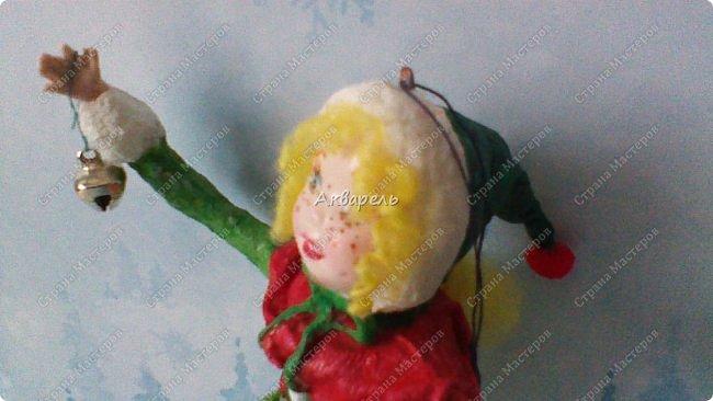 Очень меня впечатлили игрушки из ваты которые делает Олечка Симакова. А это мои пробы, эльфа-девочку я беленькую показывала, теперь она раскрашенная. фото 11