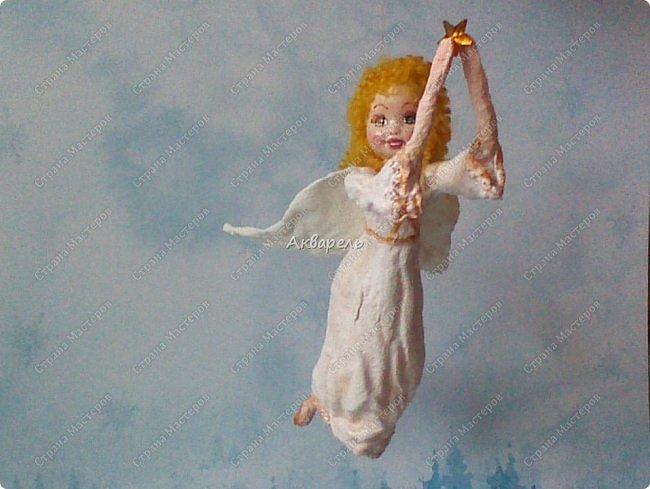 Очень меня впечатлили игрушки из ваты которые делает Олечка Симакова. А это мои пробы, эльфа-девочку я беленькую показывала, теперь она раскрашенная. фото 13