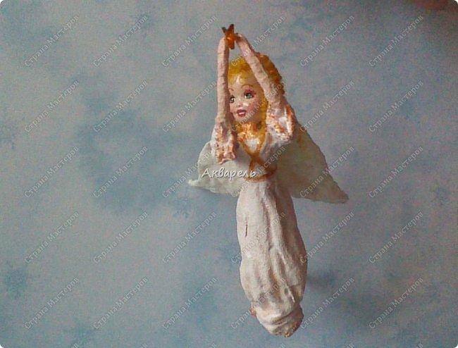 Очень меня впечатлили игрушки из ваты которые делает Олечка Симакова. А это мои пробы, эльфа-девочку я беленькую показывала, теперь она раскрашенная. фото 14