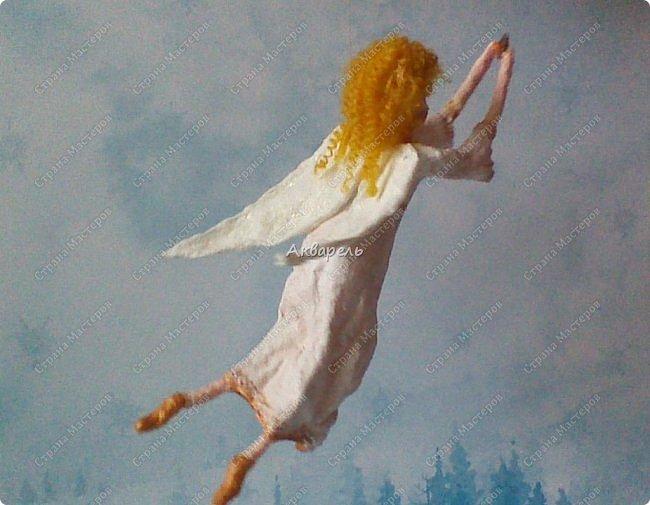 Очень меня впечатлили игрушки из ваты которые делает Олечка Симакова. А это мои пробы, эльфа-девочку я беленькую показывала, теперь она раскрашенная. фото 15