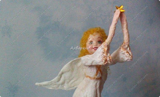Очень меня впечатлили игрушки из ваты которые делает Олечка Симакова. А это мои пробы, эльфа-девочку я беленькую показывала, теперь она раскрашенная. фото 19