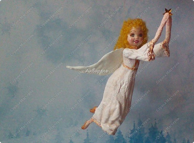 Очень меня впечатлили игрушки из ваты которые делает Олечка Симакова. А это мои пробы, эльфа-девочку я беленькую показывала, теперь она раскрашенная. фото 21