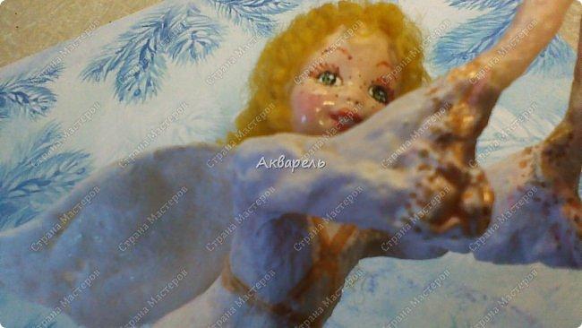 Очень меня впечатлили игрушки из ваты которые делает Олечка Симакова. А это мои пробы, эльфа-девочку я беленькую показывала, теперь она раскрашенная. фото 12