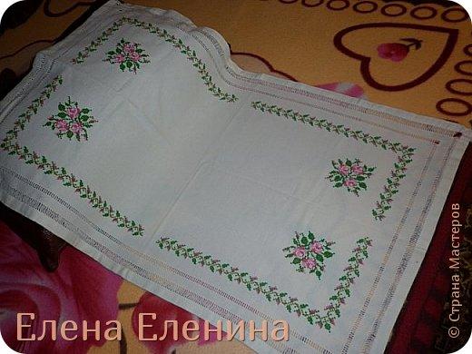 Вышитая салфетка с прошивкой  фото 2