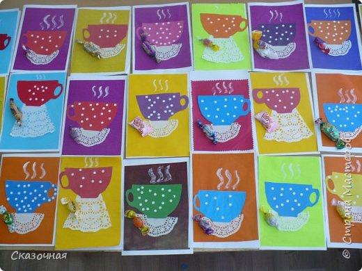 День матери. И мы с первоклассниками сделали такие вот открыточки Идею взяли из Интернета. фото 1