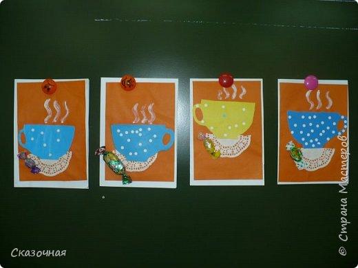 День матери. И мы с первоклассниками сделали такие вот открыточки Идею взяли из Интернета. фото 2