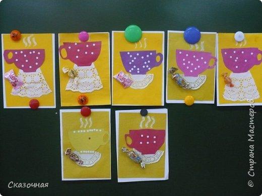 День матери. И мы с первоклассниками сделали такие вот открыточки Идею взяли из Интернета. фото 3