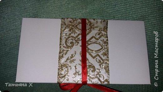 Подарок на свадьбу в красно-белых цветах. фото 3