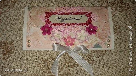 Подарок на свадьбу в красно-белых цветах. фото 4