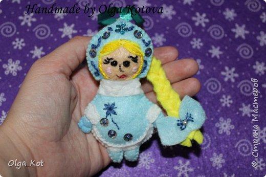 Дед Мороз и Снегурочка -елочные игрушки фото 4