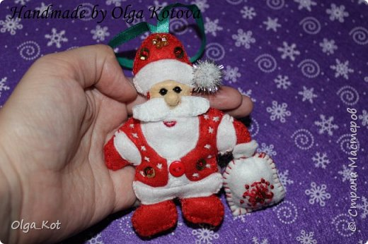 Дед Мороз и Снегурочка -елочные игрушки фото 5