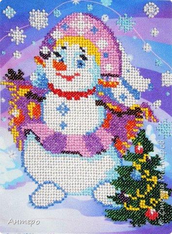 вот этого снеговичка с детками вырезала по рисунку.  фото 4