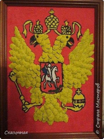 """На конкурс """"Государственные символы России"""" делали с детьми поделки. Спасибо Диме Тарасюк за идею. Мы с Дианой Баклашовой заняли 3 место. фото 3"""