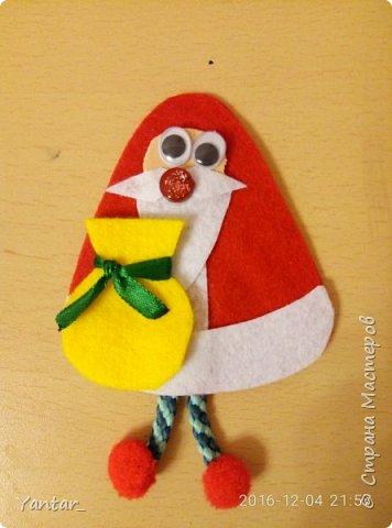 """Такие сувенирчики получились у меня в этом году. Не совсем """"Дед Мороз"""" в традиционном изображении, не совсем """"Санта Клаус""""... Я их ласково зову """"Дедушки"""". Для тех, кому они понравятся и захочется повторить, предлагаю мастер-класс. фото 9"""