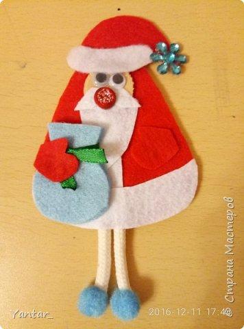 """Такие сувенирчики получились у меня в этом году. Не совсем """"Дед Мороз"""" в традиционном изображении, не совсем """"Санта Клаус""""... Я их ласково зову """"Дедушки"""". Для тех, кому они понравятся и захочется повторить, предлагаю мастер-класс. фото 12"""