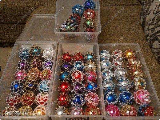 Вот такие Новогодние шарики я плету сама своими руками. фото 1