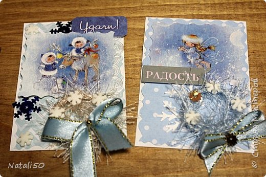 """Приглашаю на 9 этап совместника""""Рождество"""" Выбирают участники - https://stranamasterov.ru/node/1055187#comment-14363323 Использовала картон,распечатки,кружева,ленты,веночки сделала из пряжи. фото 3"""