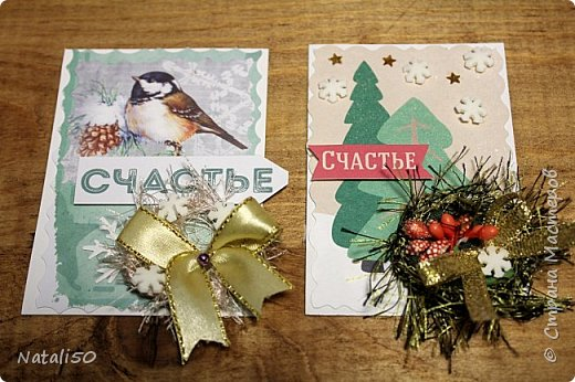 """Приглашаю на 9 этап совместника""""Рождество"""" Выбирают участники - https://stranamasterov.ru/node/1055187#comment-14363323 Использовала картон,распечатки,кружева,ленты,веночки сделала из пряжи. фото 5"""