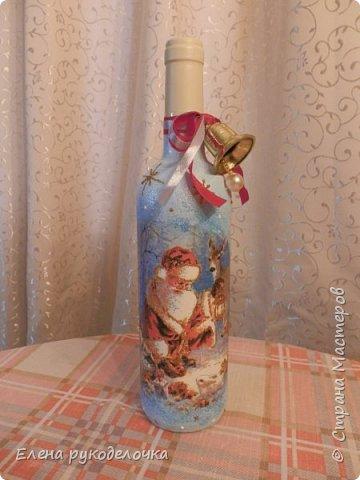 Привет всем!!! Сегодня я хочу показать бутылку, которую делала на заказ. Хочу узнать ваше мнение. Заказчица ещё не видела, надеюсь ей понравится. фото 11