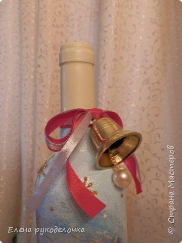 Привет всем!!! Сегодня я хочу показать бутылку, которую делала на заказ. Хочу узнать ваше мнение. Заказчица ещё не видела, надеюсь ей понравится. фото 12
