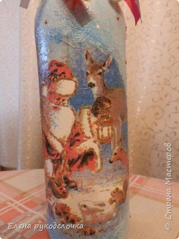 Привет всем!!! Сегодня я хочу показать бутылку, которую делала на заказ. Хочу узнать ваше мнение. Заказчица ещё не видела, надеюсь ей понравится. фото 13