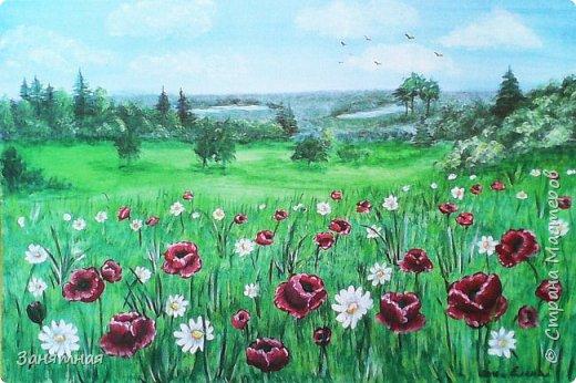И снова здравствуйте, я опять со своими картинами. Уж очень весны хочется, синички на сирени, размер 30 на 40 см.  фото 3
