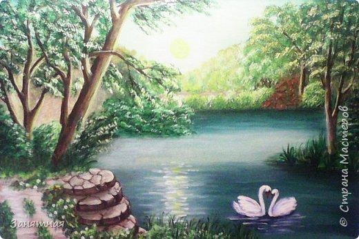 И снова здравствуйте, я опять со своими картинами. Уж очень весны хочется, синички на сирени, размер 30 на 40 см.  фото 2