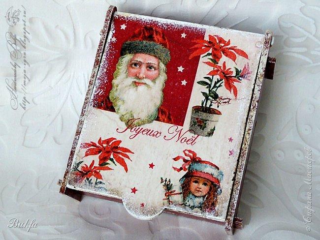 Всем первый в этом году предновогодний привет! Сегодня мое первое творение к Новому году. Коробочка, шкатулочка в новогодне-рождественском стиле. На этой коробочке и Дед Мороз, и веселые дети и рождественская звезда!