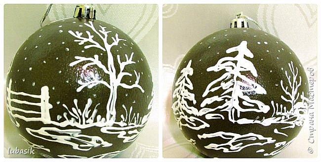 Сегодня у меня игрушки на ёлку. Очень понравилось декорировать эти медальоны - они плоские и удобно клеить салфетки и расписывать. фото 17