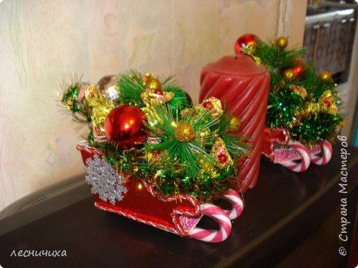 Дорогие жители СМ! С наступающим Новым Годом!!! Такие санки с конфетками улетят к хорошим людям в преддверии Нового Года. фото 2