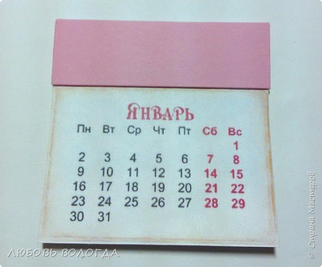 Сделала несколько календариков в качестве сувениров для близких и друзей. фото 24