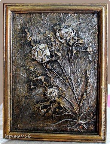 Остались цветочки от этой кусудамы https://stranamasterov.ru/node/581690 И приспособились сюда :) Размер цветов - около 7 см. Размер панно - А4. фото 12